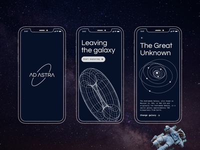 Space Odyssey - A space exploration concept app