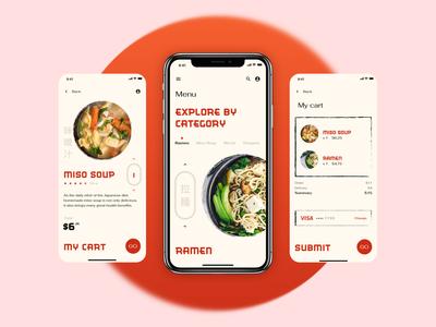 Ordering app concept