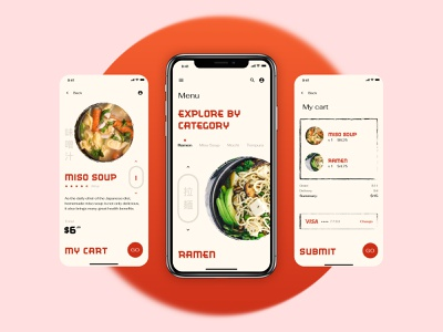 Ordering app concept uichallenge interface concept order food restaurant japanese checkout ui mobile app