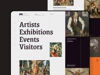 Art Museum Landing Page