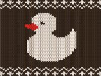 Knitting winter sweater