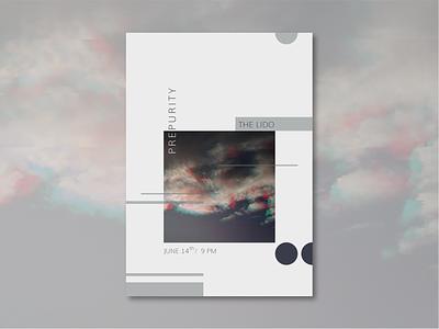 Prepurity poster geometic graphic  design print design glitch photograph poster design