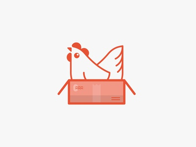 BawkBox illustration graphic  design symbol brand mark widget visual identity vector orange logo icon design branding