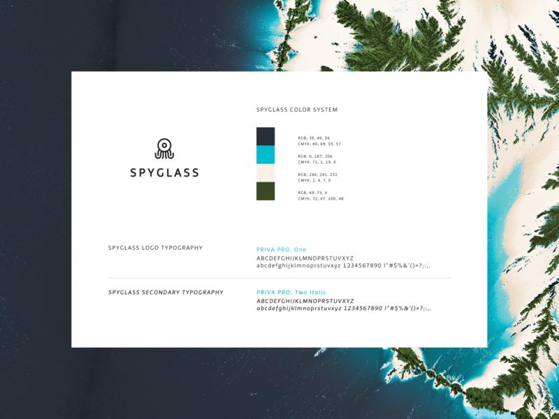 Spyglass style guide visual identity styleguide illustration logo graphic  design brand identity branding design