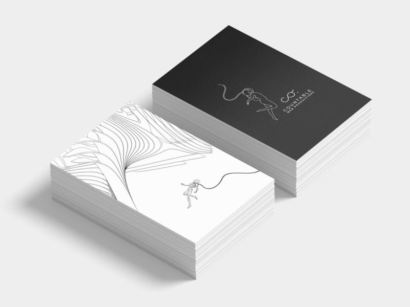 Countable vectors card visual identity print design illustration icon brand identity vector logo branding graphic  design design