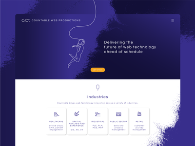 Countable Web Productions astronaut visual identity ui logo landingpage website web brand identity branding design