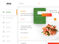 Bole Dashboard (Menu / Cards)