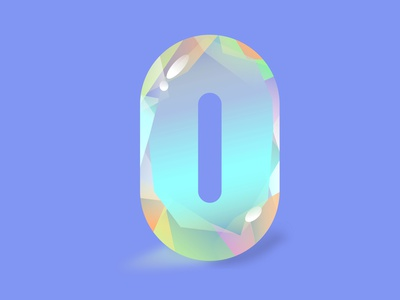 O for Opal clean illustrator color 36daysoftype cut stones gemstones stones opal stone opal