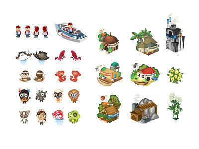 Good World Game illustrations illustration vector artwork game graphics game