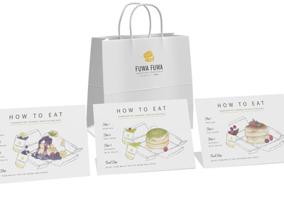 Fuwa Fuwa Pancake Design and Illustration infographic menu design watercolor instructions menu marketing print graphic design design photoshop food illustration