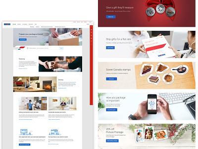 Canada Post Website Banners branding fun design photoshop illustrator vector illustration visual design marketing graphic design hero banner website web design advertisements banners
