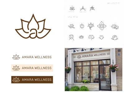 Amara Wellness Logo Design branding design photoshop illustrator vector illustration graphic design healing homeopathy clinic health wellness logo logo design