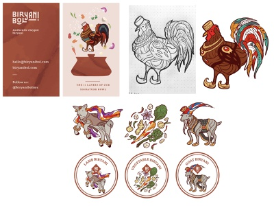 Biryani Bol Illustrations branding graphic design design photoshop illustrator vector illustration