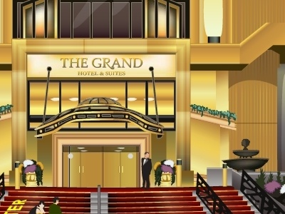 Grand Hotel in Toronto toronto building vector illustration flash
