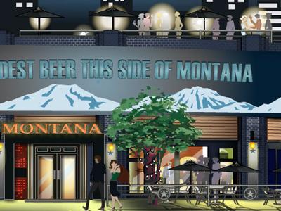 Montana's in Toronto toronto building vector illustration flash