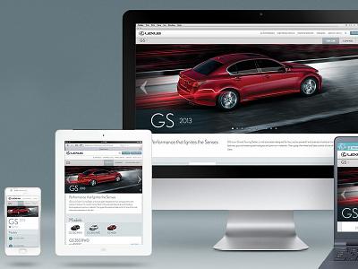 Lexus Canada Responsive Site responsive rwd automobiles web design ui