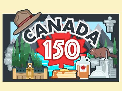 Dury Canada 150 illustration canada