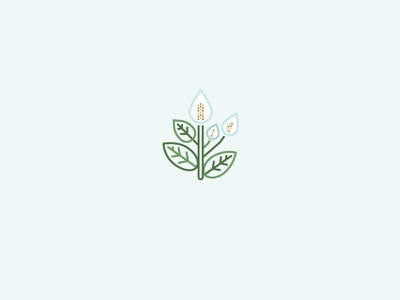 Peace lily peace flower nature illustration icon line lily