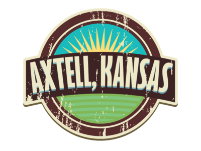 Axtell Snapchat GeoFilter typography vector icon illustration logo design