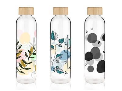 Design bottles packaging bottle plant design bright art illustrator illustration vector