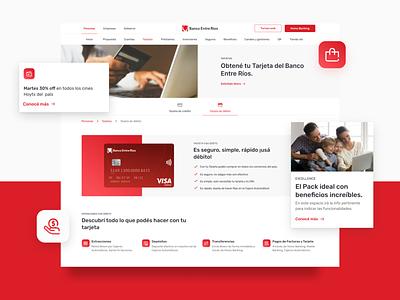 Grupo Petersen responsive design credit card cards card finance banking website bank web ux ui design