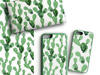 Cactus watercolor pattern