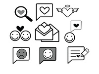 Love icons vector illustrations