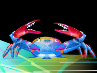 This is an illustration with TechnoCrab.