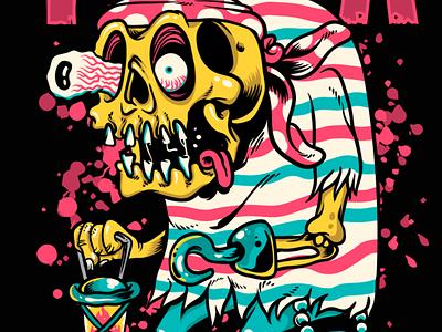 Pirate skull t shirt design pirate skull t-shirt design skull vector street art illustrator photoshop skulls skull (anatomical structure) illustration tutorial art (quotation subject) pirate t-shirt (garment) speed art tshirt design t-shirt artwork art skull