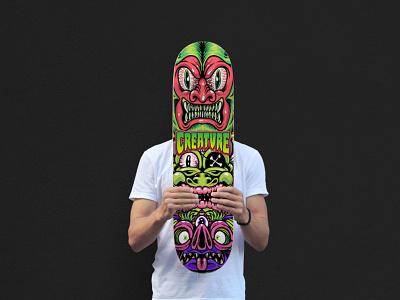 Solid Creatures monster ricofopifopi artwork adobeillustrator drawing tshirtdesign skateboard skatedesign illustration design vector creaturefiends creatureskateboards creaturegraphicfreakout creaturefiendfavorite