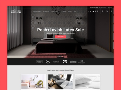 Mattress Online Store Landing Page