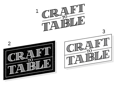 Craft to table round 2 options