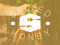 salted honey logo - with new type and texture