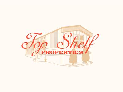 Top Shelf script vintage branding logo