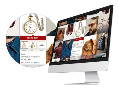 Expanded Product Detail detail expand active ecom fashion vintage hipster website grid ux ui user experience