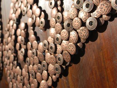 Stay tuned... buttons oshkosh wood installation metal clover logo bronze