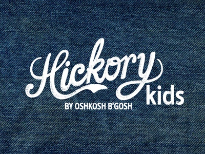 Hickory Kids by OshKosh B'gosh oshkosh oshkosh bgosh denim wholesale branding logo script vintage texture kids clothing label