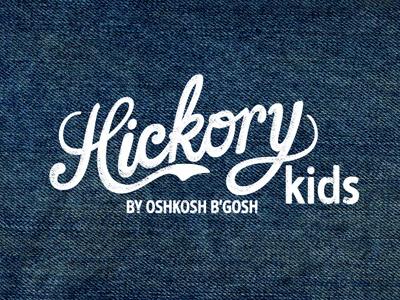 Hickory Kids by OshKosh B'gosh oshkosh oshkosh bgosh denim wholesale branding logo script vintage texture kids clothing label