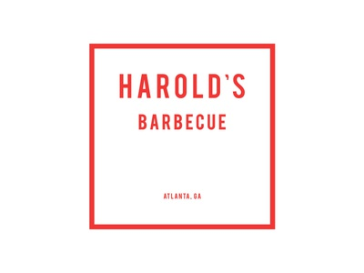 Harold's Logo bebas square white red basic minimal simple branding logo