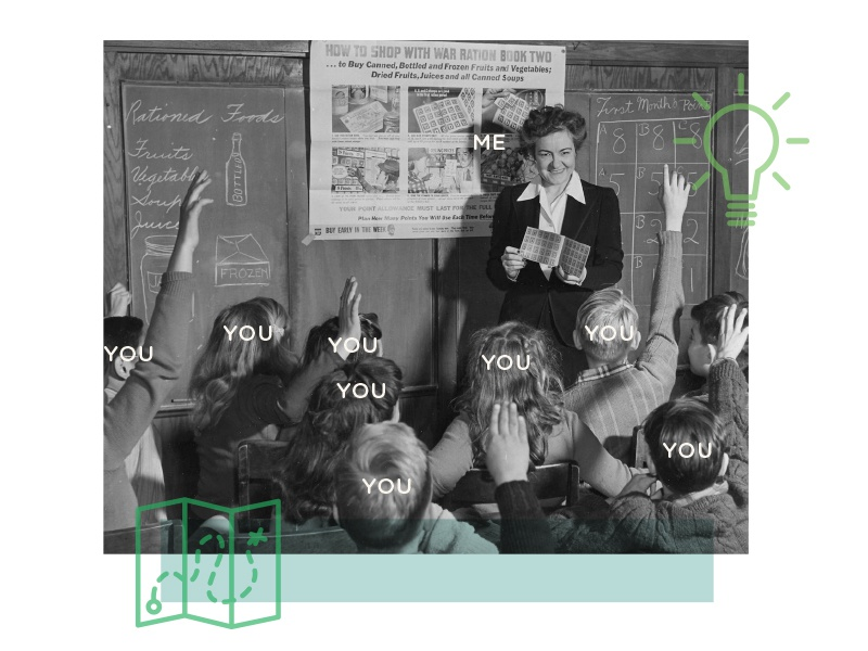 The What you me layout lightbulb map icons photo teacher stock class collage