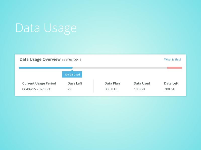 Data Usage Meter 1 sketch product product design track bandwidth wifi internet dashboard ux data meter data usage