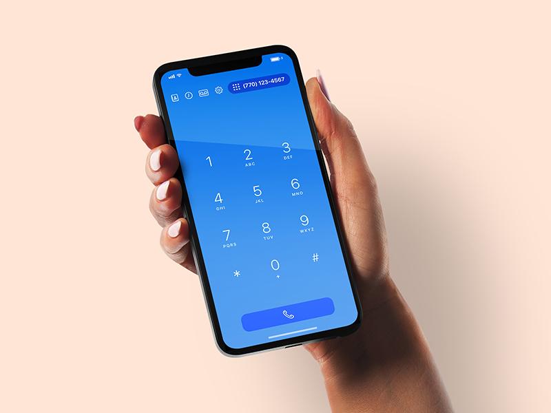Telephone App dailyui swipe keypad dialpad phone product design user experience ui ux ios telephony telephone
