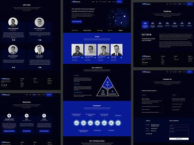 Blockchain company's website minimal clean luxury dark theme serious scientific blockchain company web design website ux ui