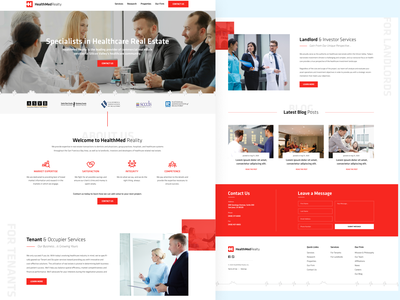 Healthcare Real Estate website landing page clean luxury minimal graphic design company realestate healthcare web design website ui ux