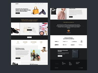 Landing page for a digital marketing agency for luxury fashion brands minimal luxury landing page digital agency website web design ux ui
