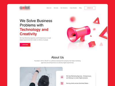 Software development firm website entrepreneurs firm software development minimal clean landing page web design ui ux website