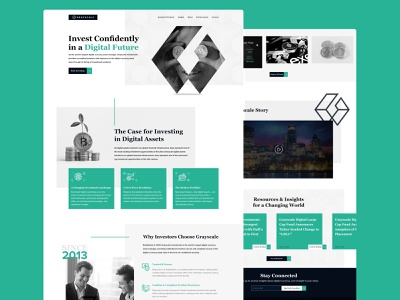 Grayscale | A digital currency company website currency investment crypto design landing page website clean web design minimal ui ux