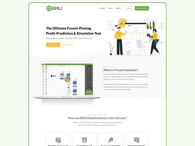 Geru | A SaaS Software Planning Tool landing page saas landing page tool saas ux ui minimal clean web design website design landing page