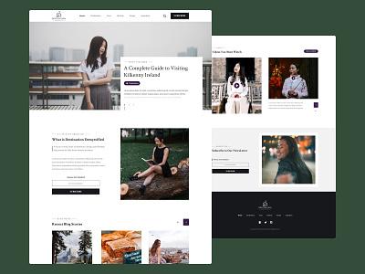DD | An Elegant & Attention Grabbing Blog solo asian female travelers architecture travel asian female luxury lifestyle blog asian design landing page website web design clean ux ui minimal