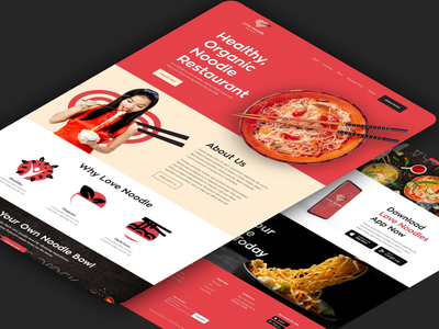 Ai | The Chinese word for Love drinks food restaurant design landing page website web design clean ux ui minimal